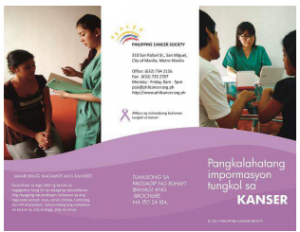 Cancer in General Leaflet